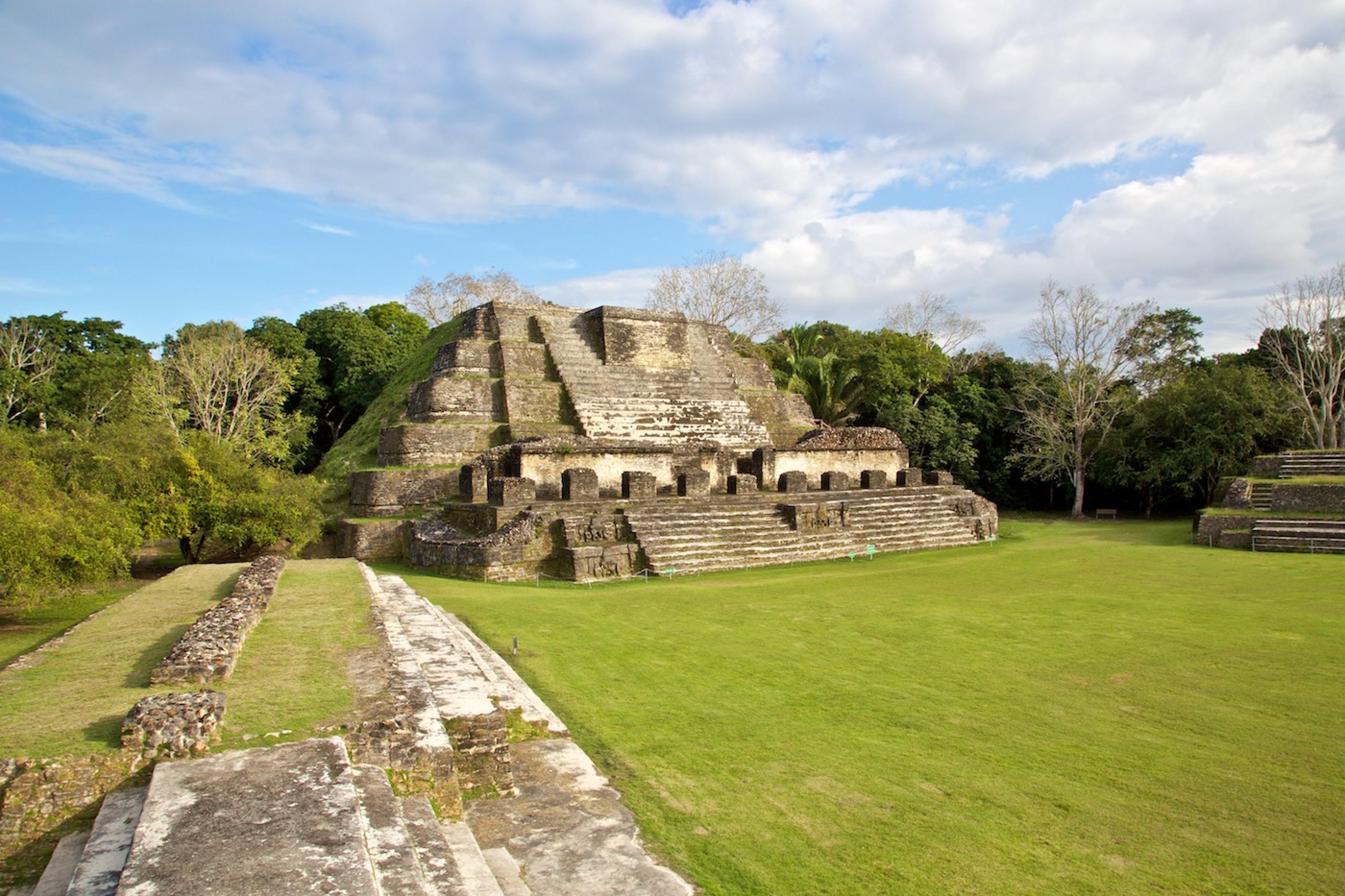 Altun Ha Mayan Ruins Caribbean Caye Belize Anywhere