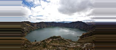 Ecuador Quilotoa Lagun