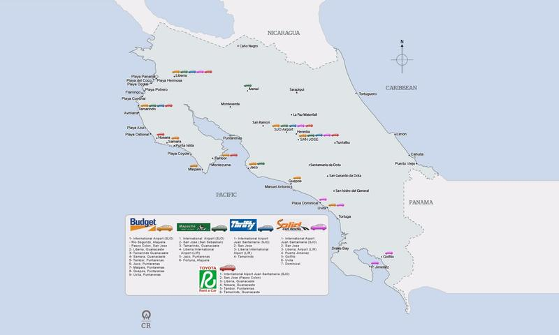 Renting A Car And Driving In Costa Rica The Ultimate Guide - Map costa rica