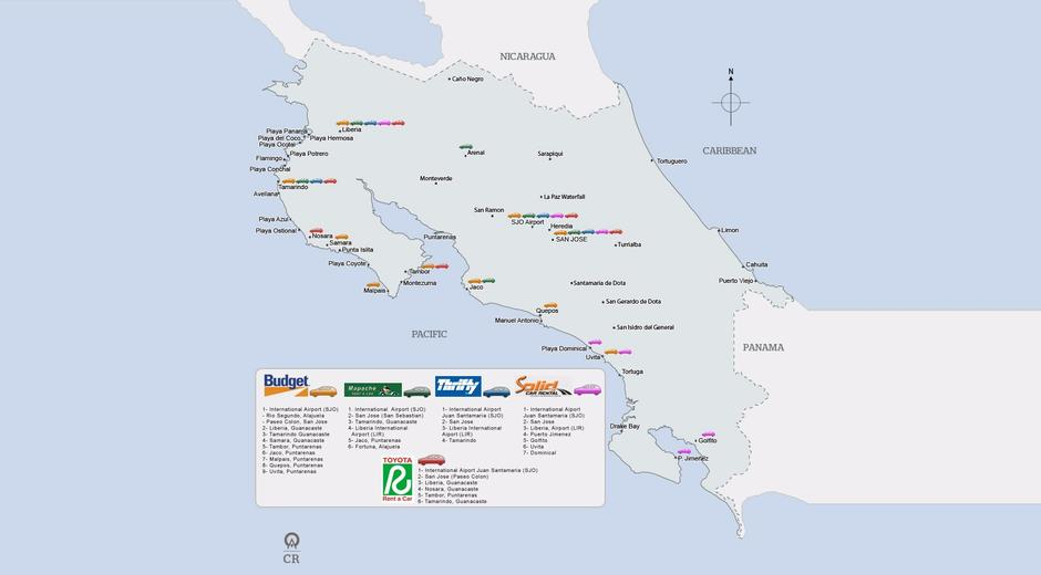 Renting A Car And Driving In Costa Rica The Ultimate Guide - Map of costa rica