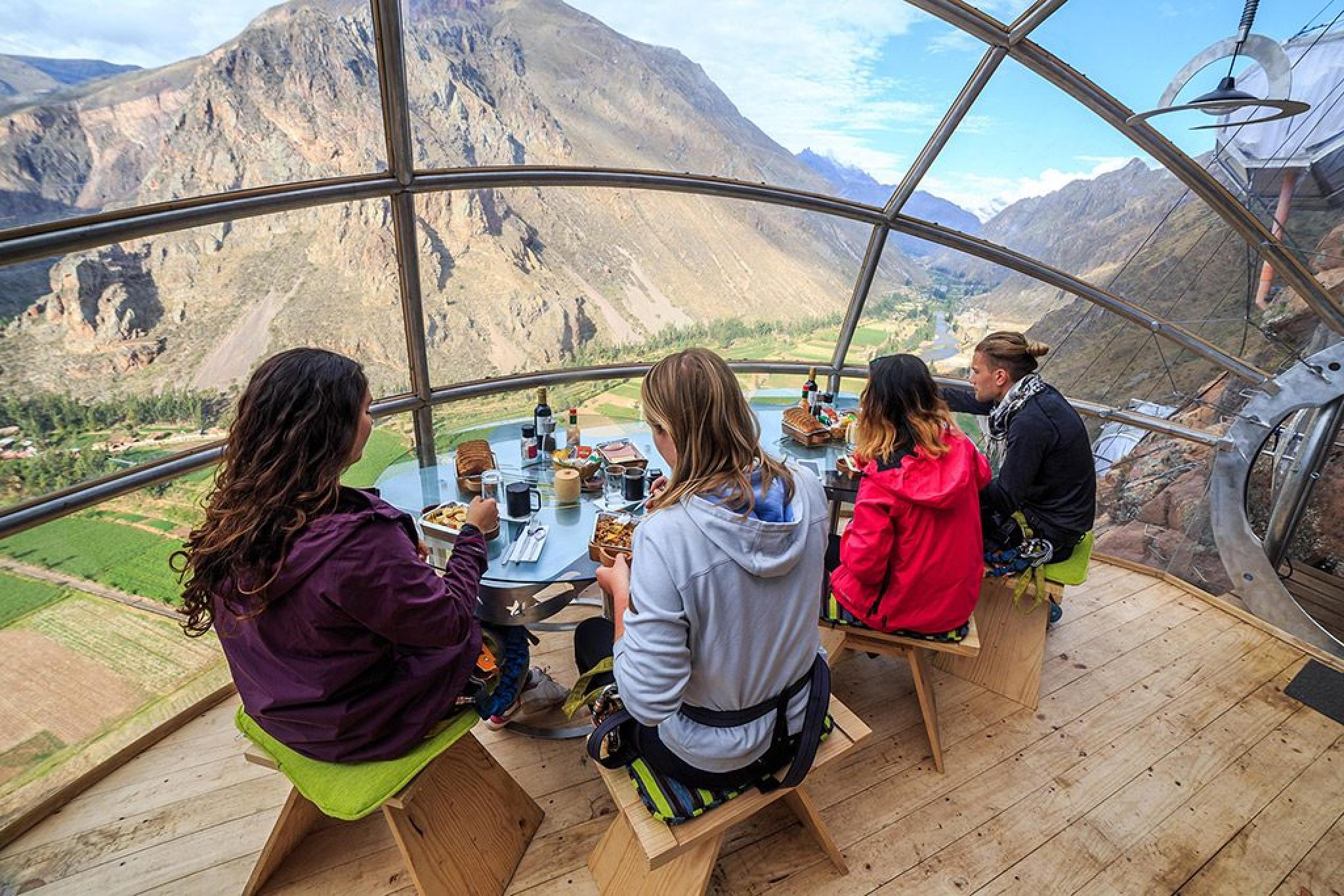Lunch at Skylodge with Via Ferrata and Zipline