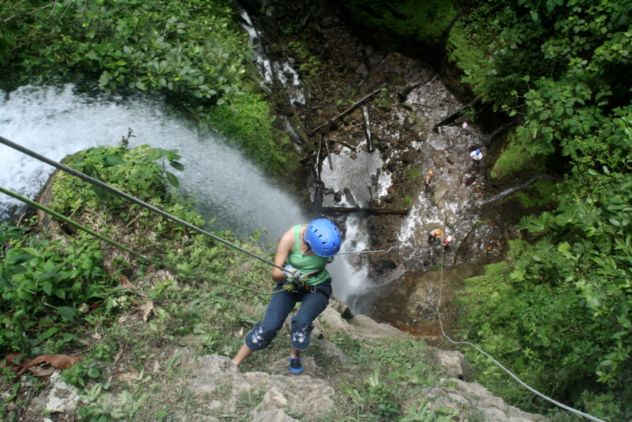 Waterfall Rapelling and Rafting Tour