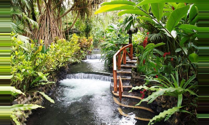 Bridges, Volcano, Waterfall & Tabacon Hot Springs