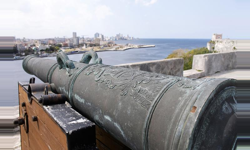 Cannon Shot Beyond the Bay