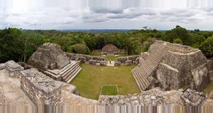 Belize Caracol Maya Temple