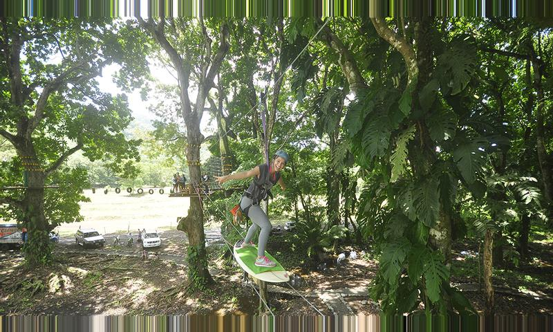 High Ropes Course Quick Jump and Ceiba Rappel Tour