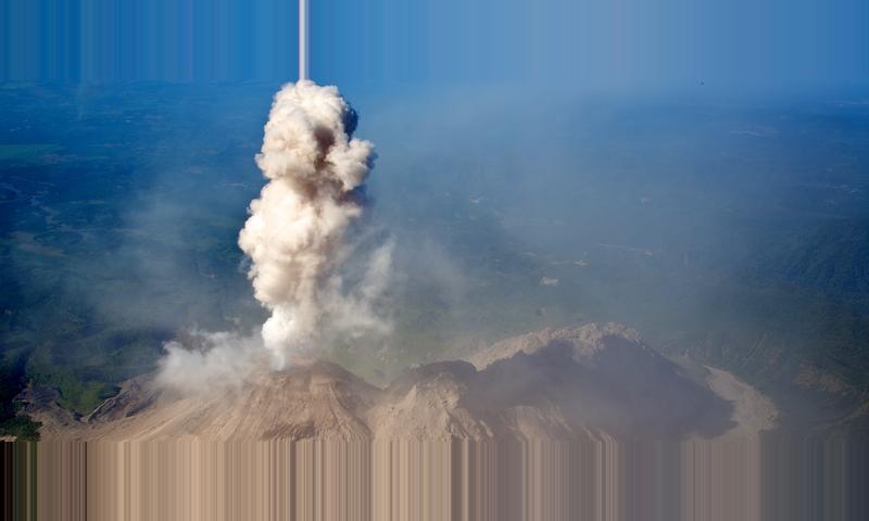Sneek Peak of Santiaguito Volcano