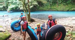 Costa Rica Tubing en Río Celeste