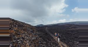Ecuador Sierra Negra Volcano and Chico Volcano