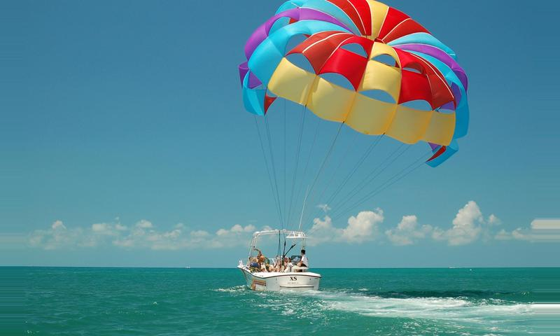 Sunset Champagne Parasail Package Tour