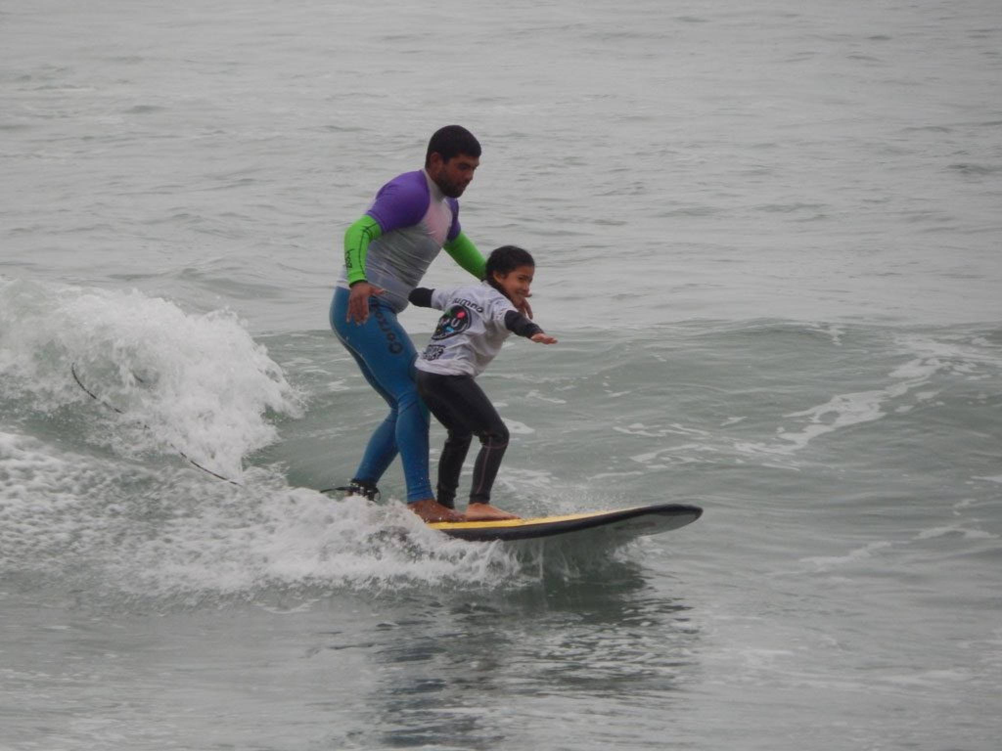 Surf Lessons at Makaha Beach in Lima