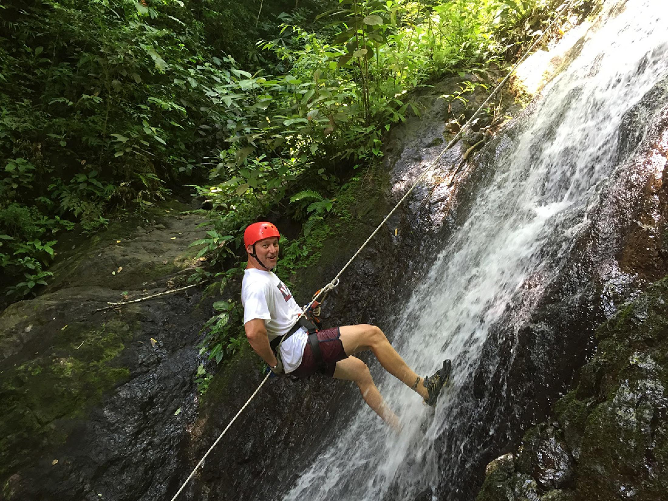 Zip Line and Waterfall Rpelling