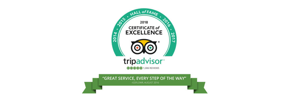 TripAdvisor: Certificate of Excellence for Anywhere.com