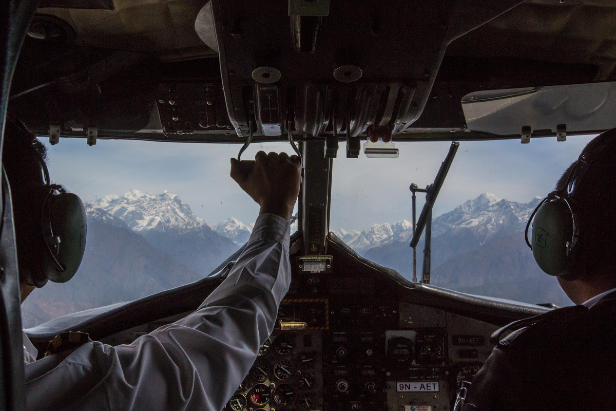 Flight to Lukla (9,380 ft/2,860 m) & trek to Monjo (9,301 ft/2,835 m)