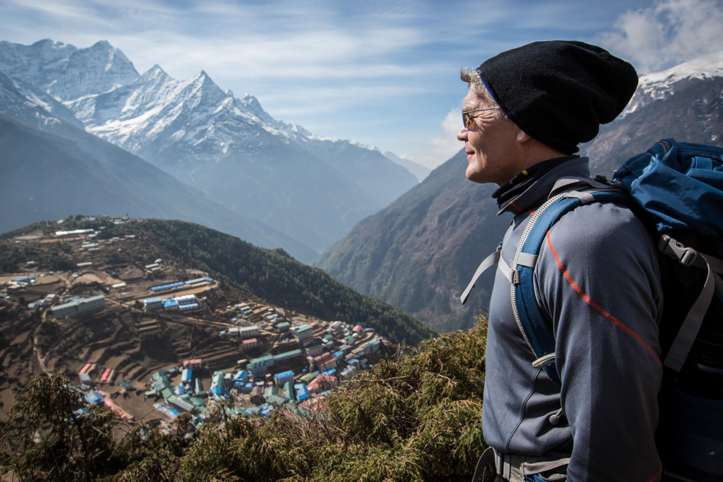 Trek to Namche Bazaar (11,290 ft/3,440 m) approx. 4 hours