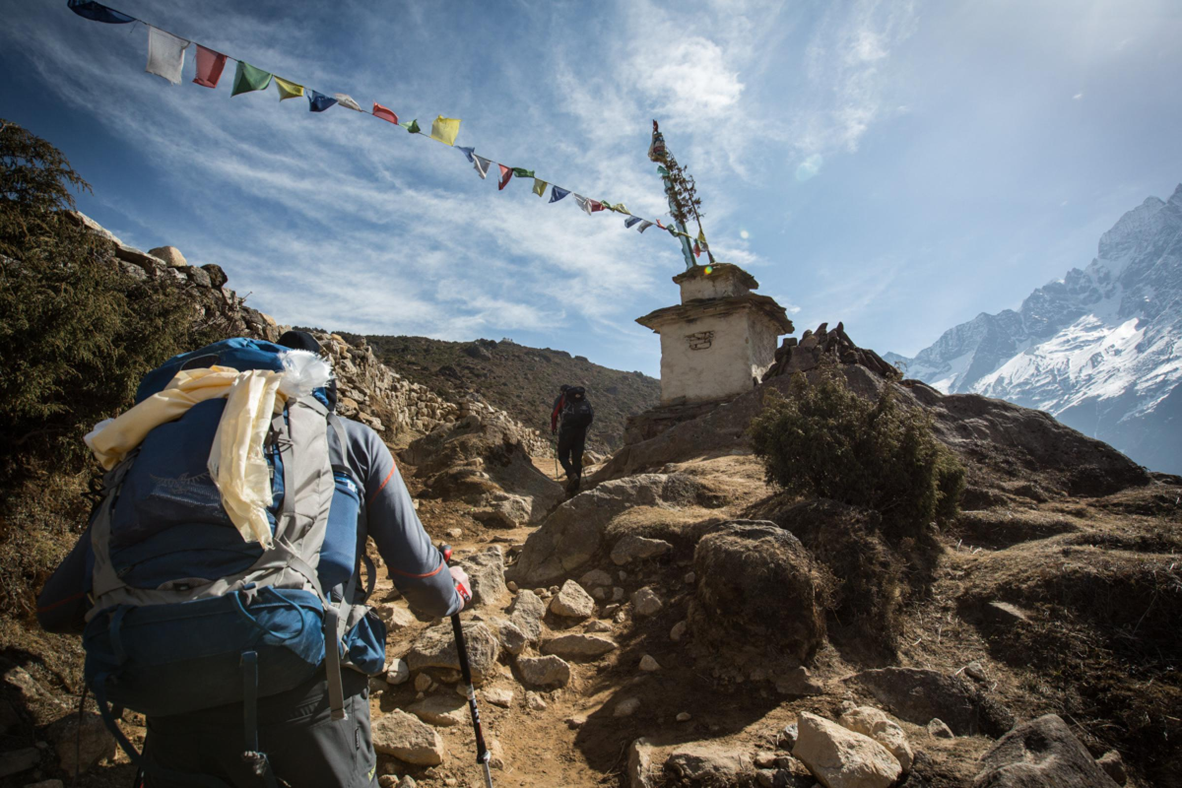 Trek to Kunde (12,470 ft/3,800m) approx. 3 hours